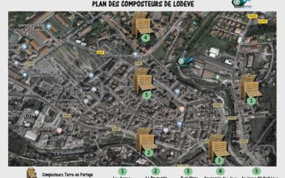 Plan des différents composteurs de Lodève