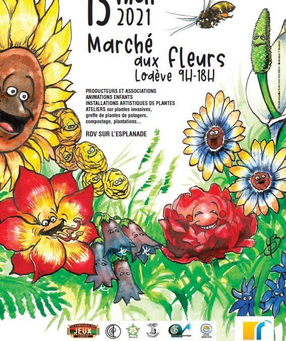 13 mai : Marché aux fleurs de Lodève