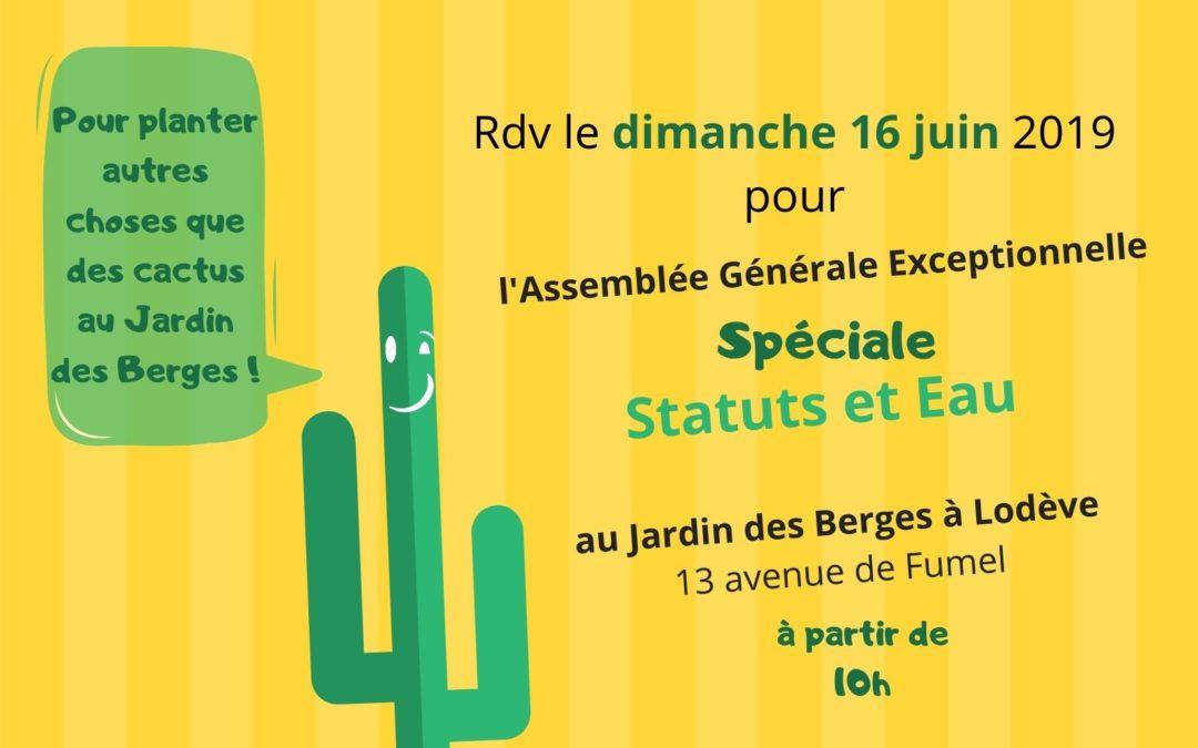 Assemblée générale exceptionnelle Statuts & Eau