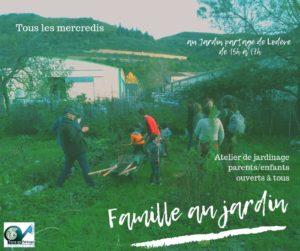 Familles au Jardin @ Jardin des Berges (parking du boulodrome)