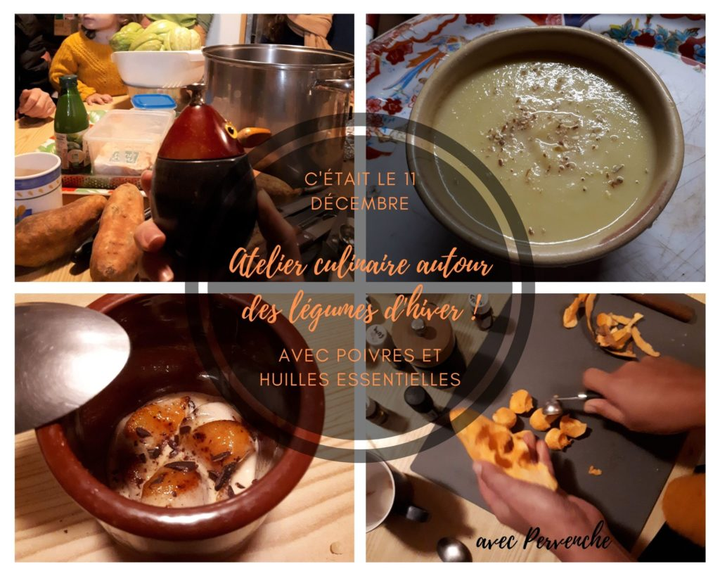 retour sur l'atelier culinaire de décembre