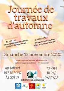 Journée de Travaux d'automne @ Jardin des Berges