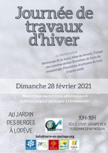 28 fév : Journée de Travaux d'hiver @ Jardin des Berges