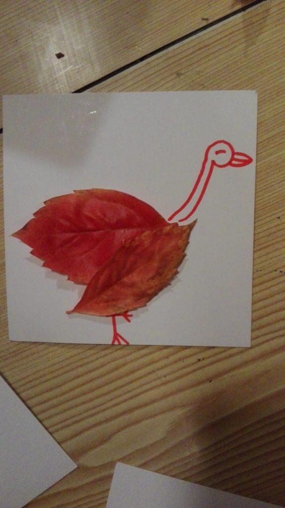 feuilles mortes arts plastiques