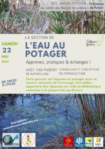 22 mai : Gérer l'eau au potager @ Jardin des Berges