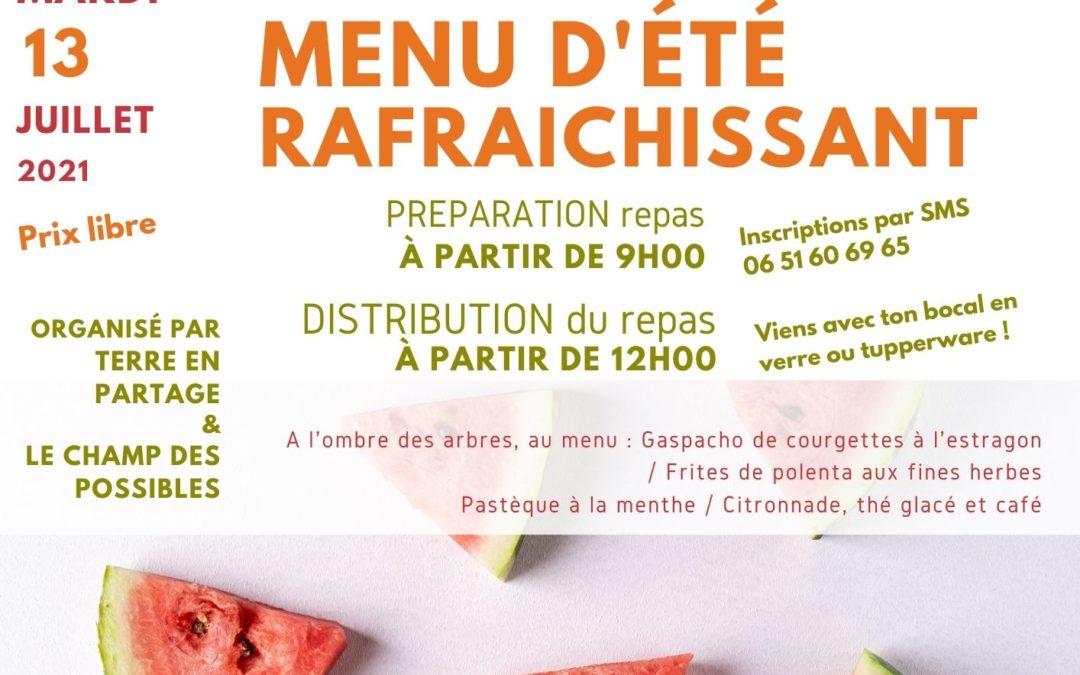13 juillet : Distribution d'un repas estival !