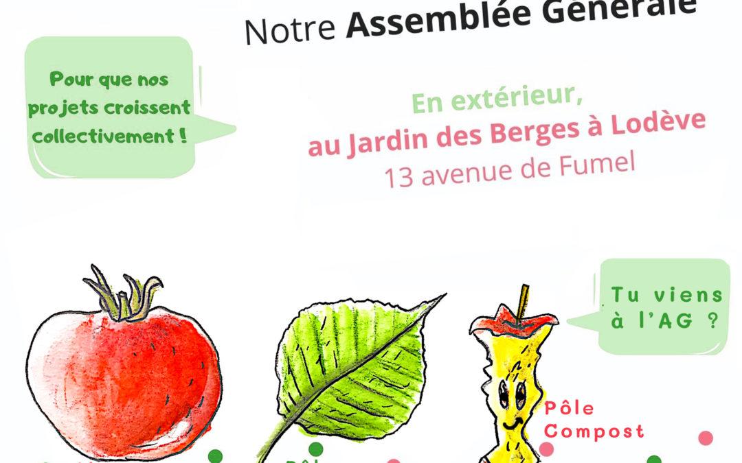 30 mai : Notre Assemblée générale
