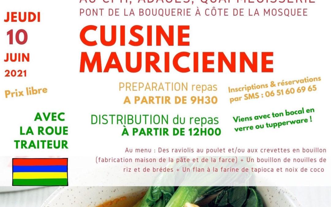 10 juin : Distribution d'un repas mauricien !